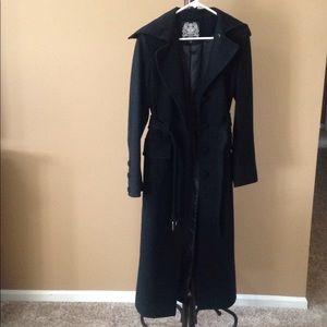 Long wool jacket